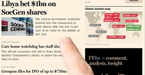 Financial Times mobile site